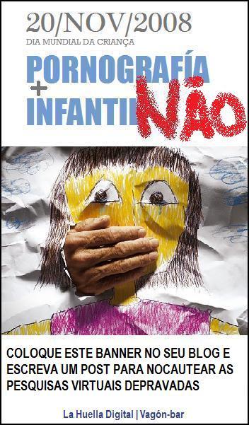 PORNOGRAFIA INFANTIL NÃO!!