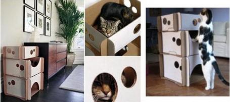 Casinha de papelão para gatos