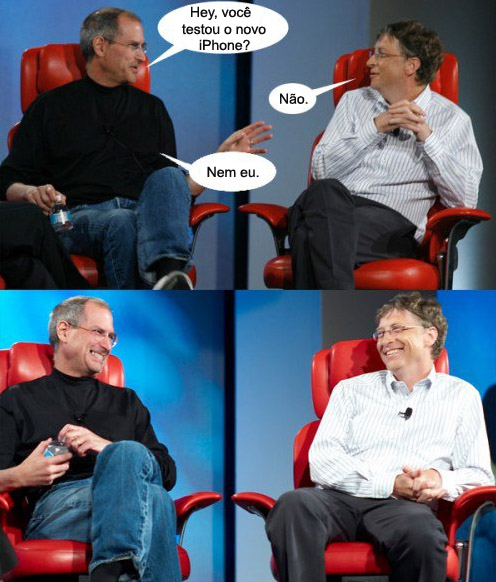 gatesjobs Steve Jobs, Bill Gates e o novo iPhone
