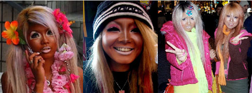gangurogirls A moda das Ganguro Girls