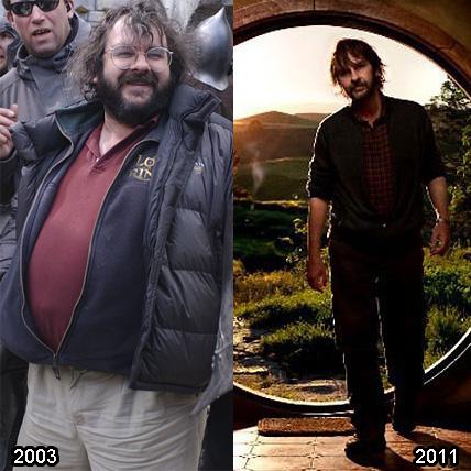 Peter Jackson - antes e depois