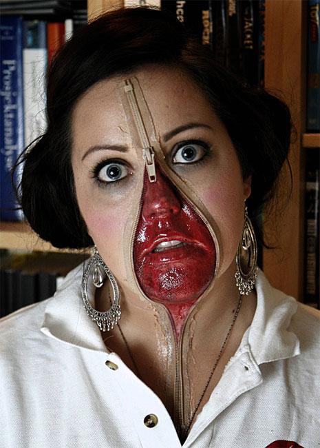 Maquiagem genial para o Halloween