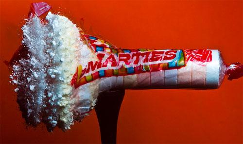 Fotografia em alta velocidade: explodindo doces